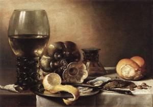 Pieter Claesz-Nature morte avec huitres