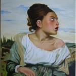Huile sur toile copie de Delacroix