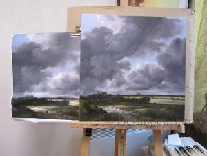 copie, peinture, Ruisdael