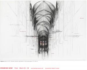 graphite et gouache 197 x 280 cm
