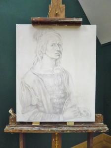dessin autoportrait A. Dürer