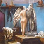 Peinture à l'huile, modele et sculpture