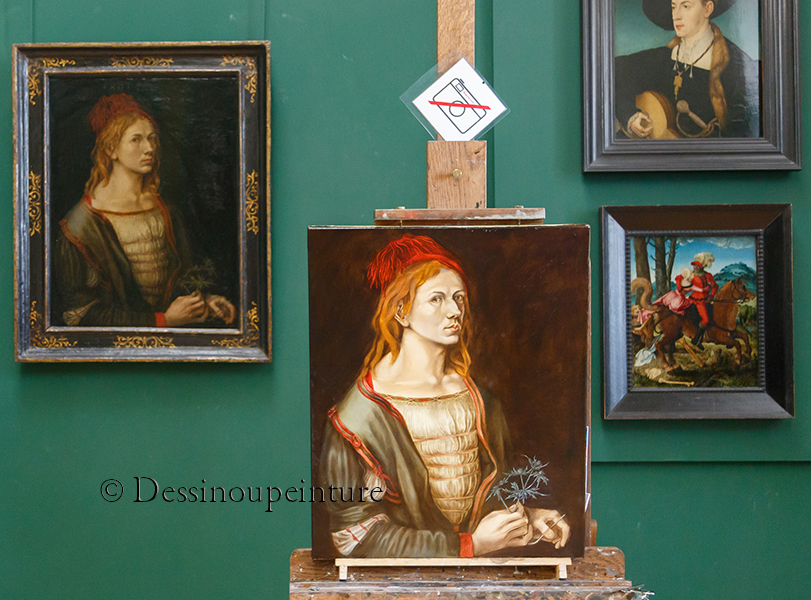 Albrecht Dürer , autoportrait au chardon