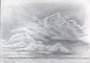 nuages sur la mer à Maupiti