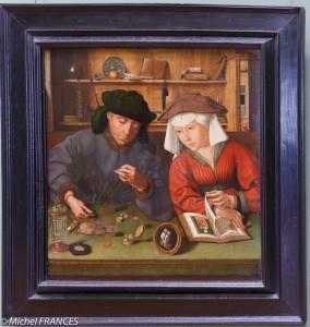 peinture d'un usurier et sa femme