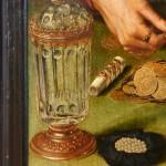 verre dans une peinture de Metsys