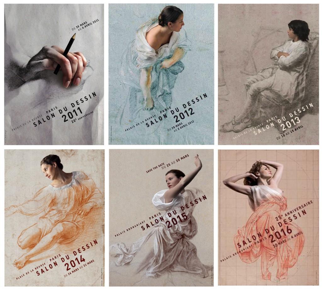 Les affiches du Salon du dessin