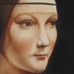 visage, détail, peinture