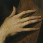 detail de peinture, main