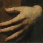 main gauche, peinture