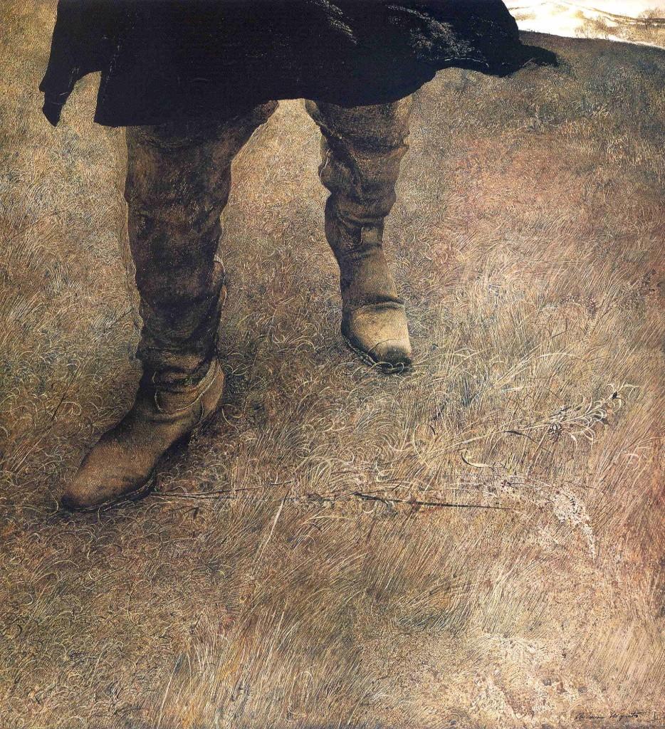 bottes, détrempe à l'oeuf