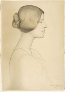 dessin portrait de femme
