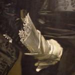 détail peinture, gant, dentelle