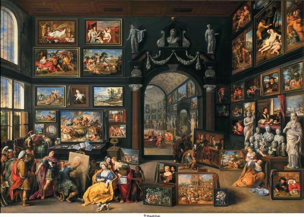 peinture, galerie d'art, Apelle, Alexandre le grand, Willem van Haecht