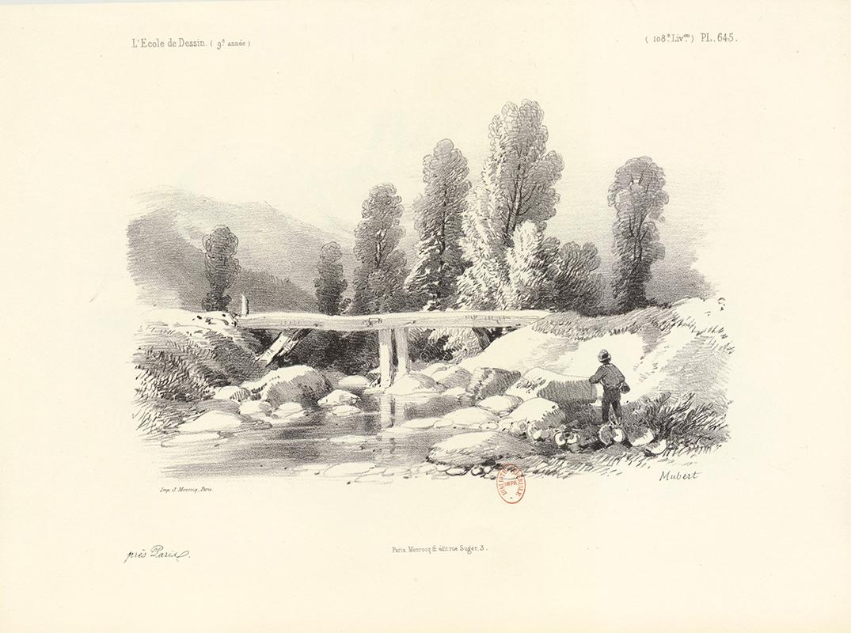 cours de paysage, dessin