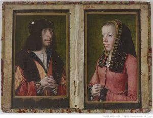 manuscrit XVes, portraits peints