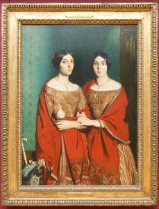 double portrait de femmes, peinture de Chasseriau