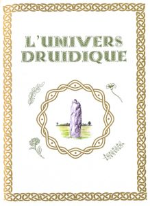 page l'univers druidique avec illustration d'un menhir