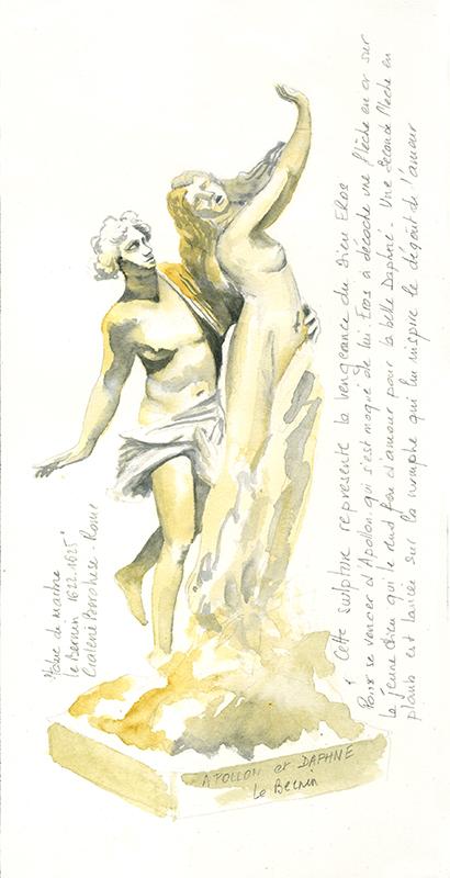 croquis statuaire le berlin - Apollon et Daphné