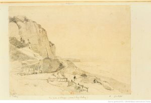 dessin de paysage d'Isabey