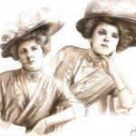 portrait avec chapeau aquarelle