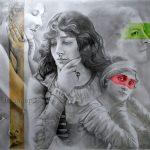 dessin de femmes d'après les photos de Reutlinger
