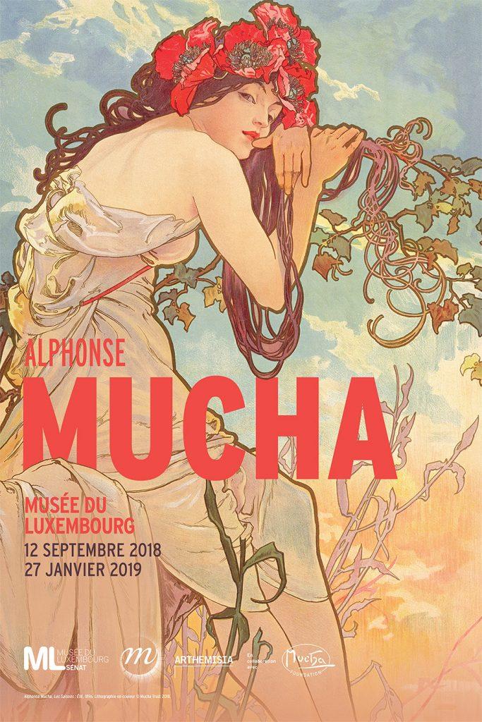 affiche d'exposition, Alfons Mucha