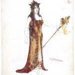 dessin d'un costume représentant l'Automne
