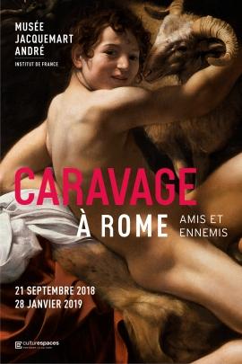 affiche de l'exposition Caravage