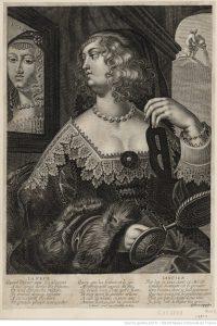 femme s'admirant dans un miroir