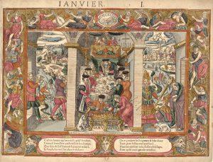 scene de vie 17eme siècle , janvier