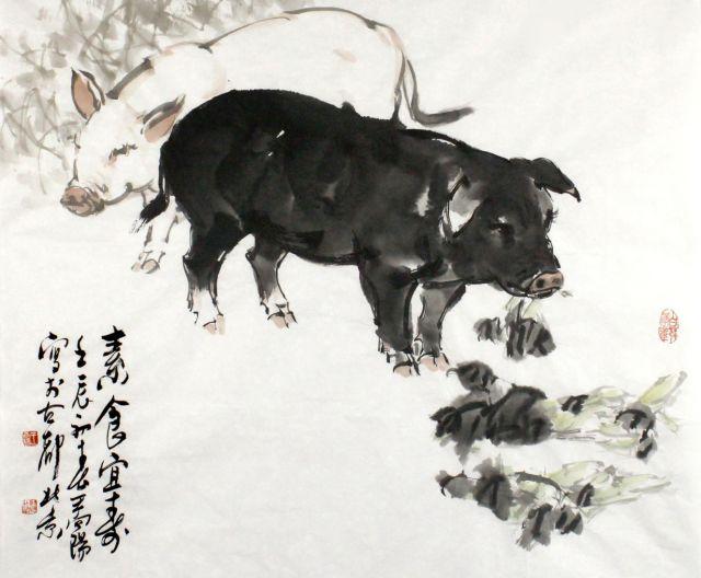 Année du cochon - illustration chinoise