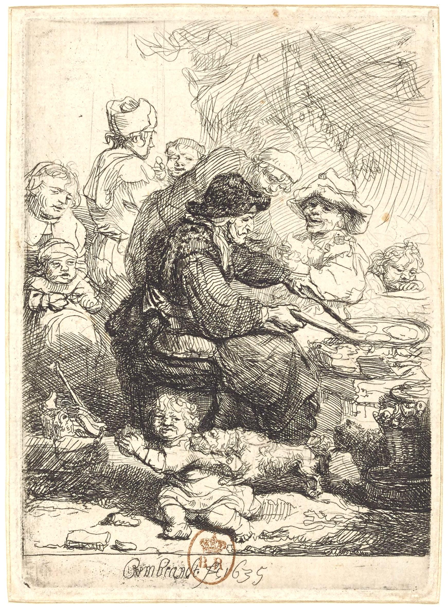 La faiseuse de kouk's de Rembrandt -Gallica
