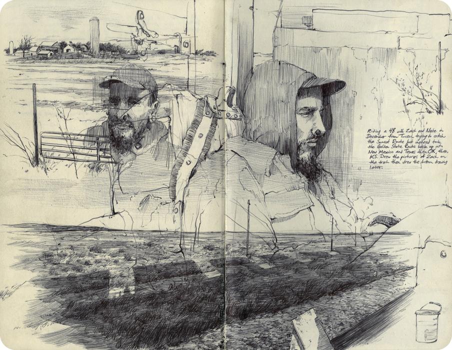 dessin tirés d'un carnet de voyage de Pat Perry