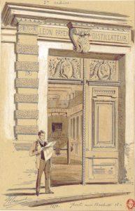 Porte du 13 rue Barbette, dessin de Chauvet 1878