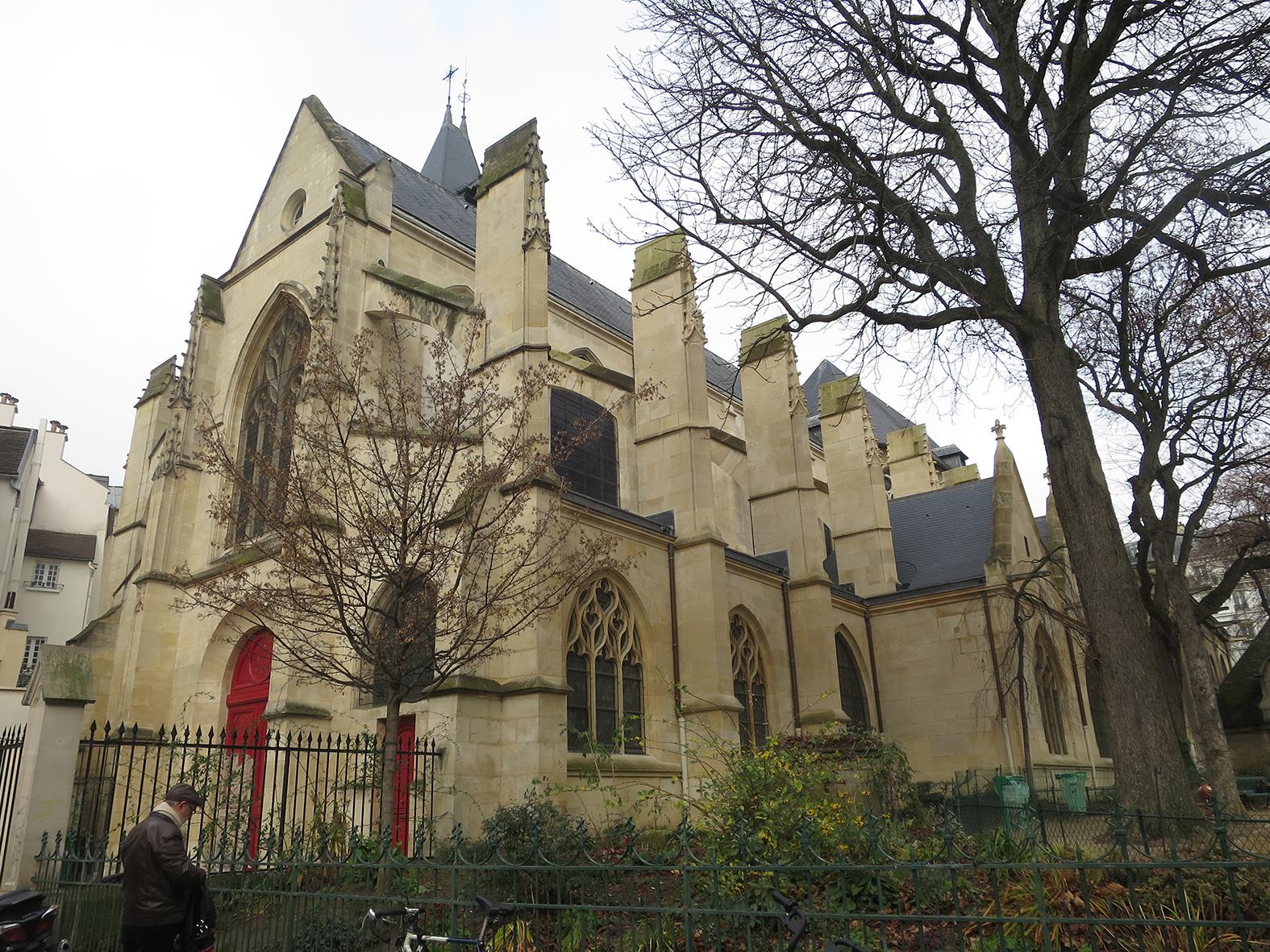 Vue de l'église St Medard à Paris 5- 2019 ©I.Frances