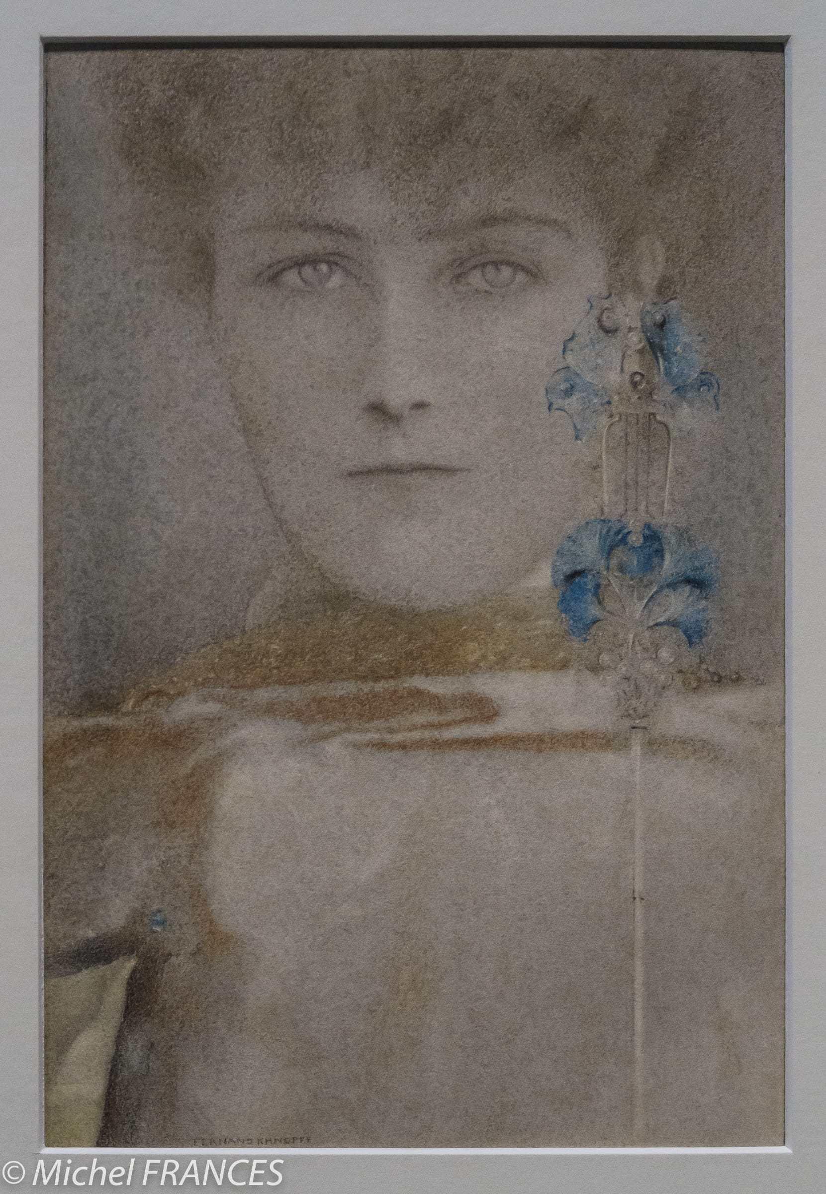 exposition Fernand Khnopff – Un masque au manteau blanc – 1907
