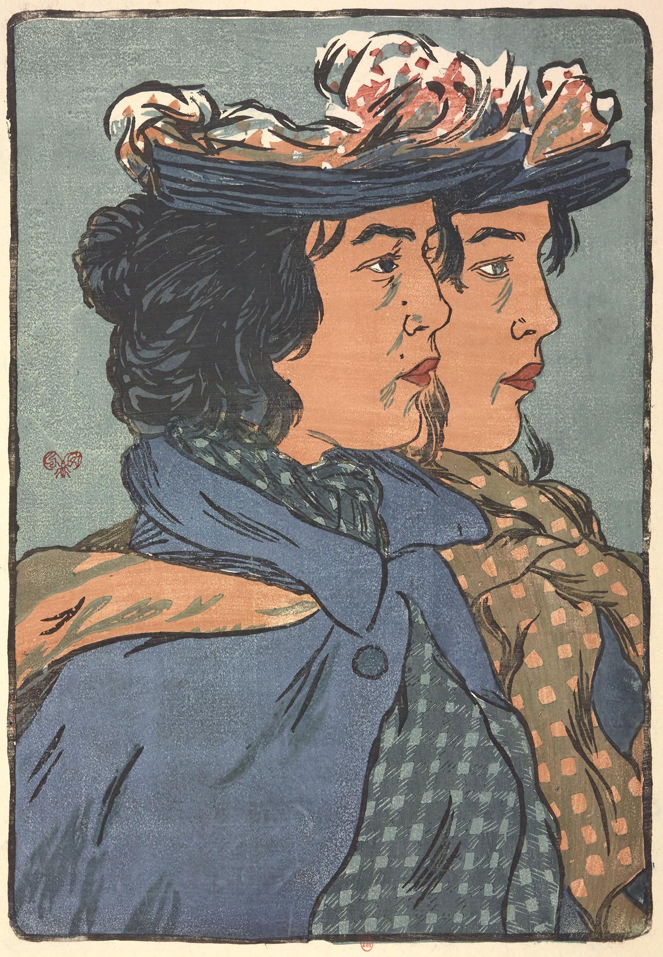 Les soeurs jumelles : estampe de George Auriol