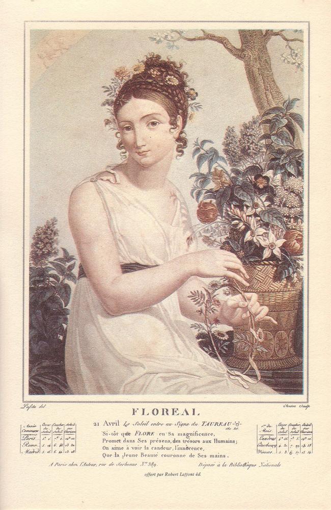 Floréal , calendrier républicain commence le 21 avril