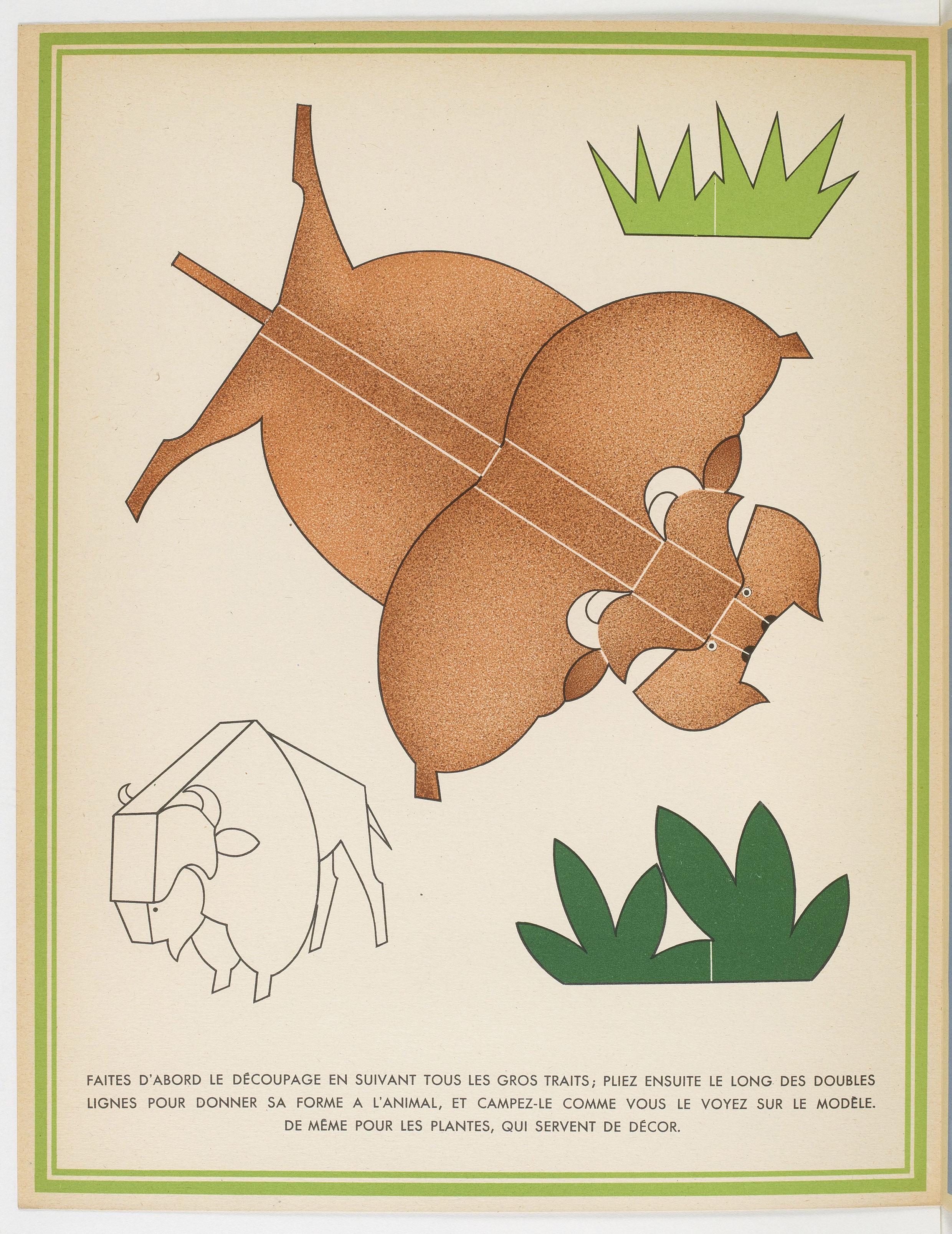 La Jungle chez moi : Série de 8 images et découpages à plier sans collage / Dessins de Turenne Chevallereau  ark:/12148/btv1b8556538q