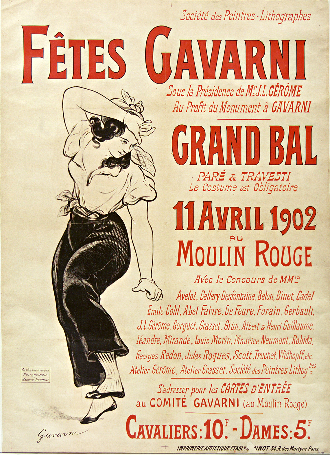 Fêtes Cavarni. Grand bal 11 avril 1902. Moulin rouge :  ark:/12148/btv1b9014039p