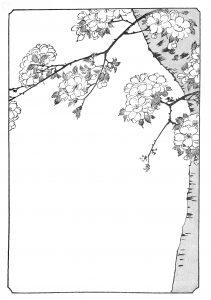 decor mise en page abre en fleur