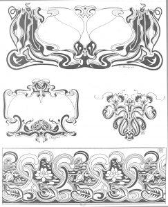 éléments graphiques de style art nouveau
