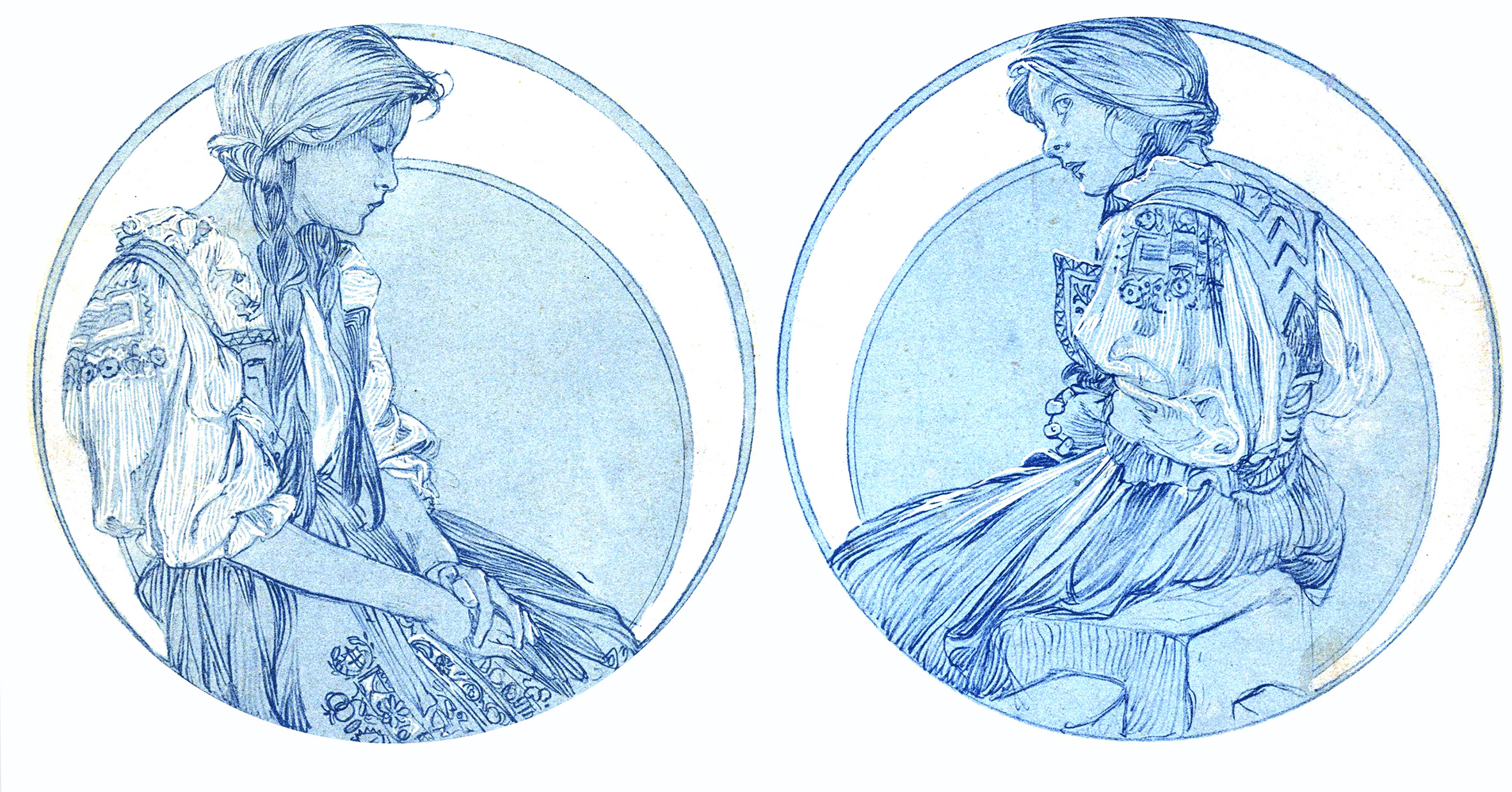 Figures décoratives / par A. M. Mucha -Bibliotheque Forney