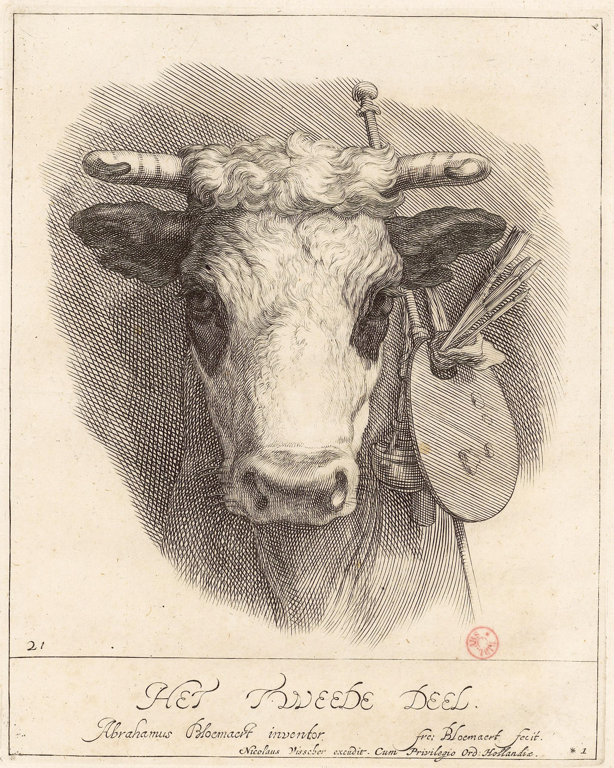 estampe de Abrahamus Bloemaert dans son livre  à dessiner - Gallica