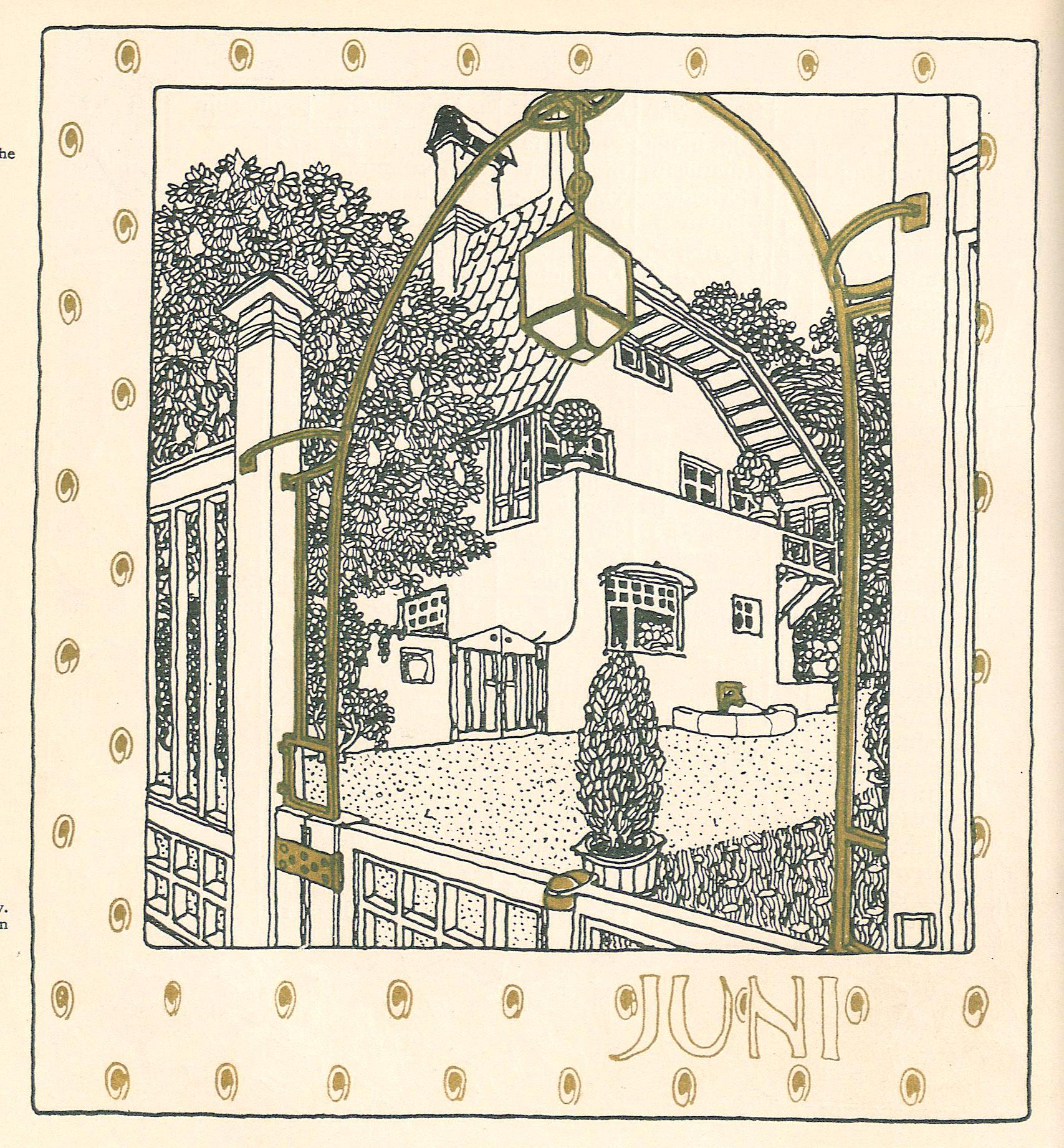Illustration tirée de la publication Ver sacrum (1898)-ressources online de l'Univ.-Bibliothek Heidelberg