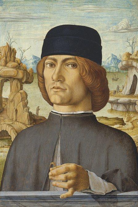 Portrait d'un homme avec une bague de Francesco del Cossa- 1472-1477 Huile sur bois. 38.5 x 27.5 cm © Museo Nacional Thyssen-Bornemisza, Madrid