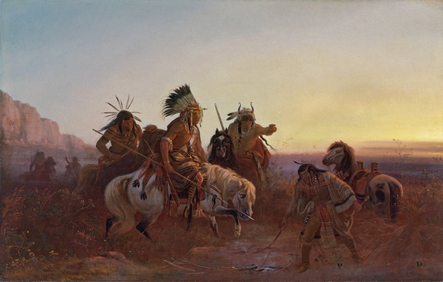 The Lost Trail  de Charles Ferdinand Wimar-1856 © Museo Nacional Thyssen-Bornemisza, Madrid