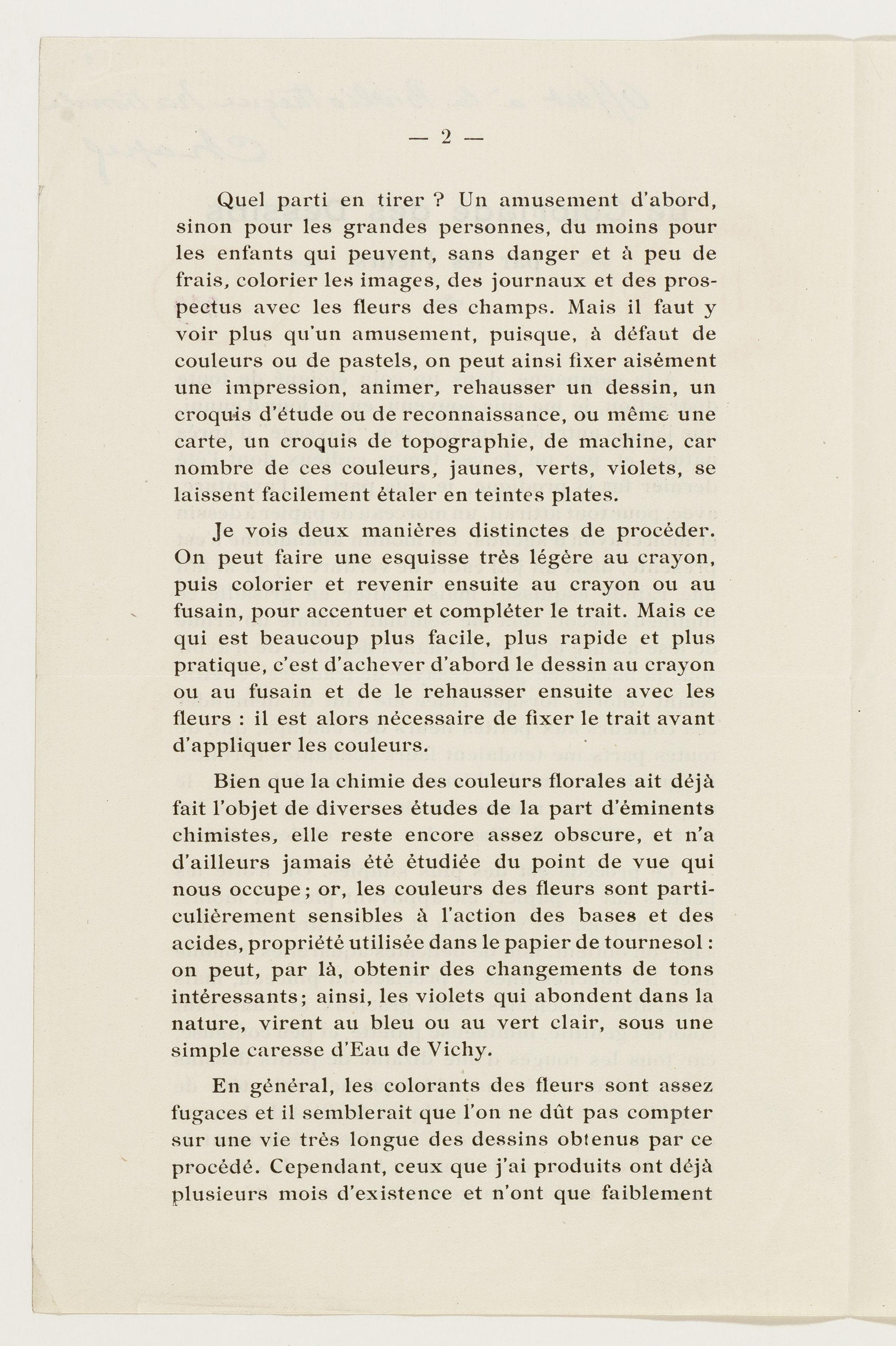 Le Coloriage des dessins par les fleurs  par le Général Chapel - 1921 - Gallica