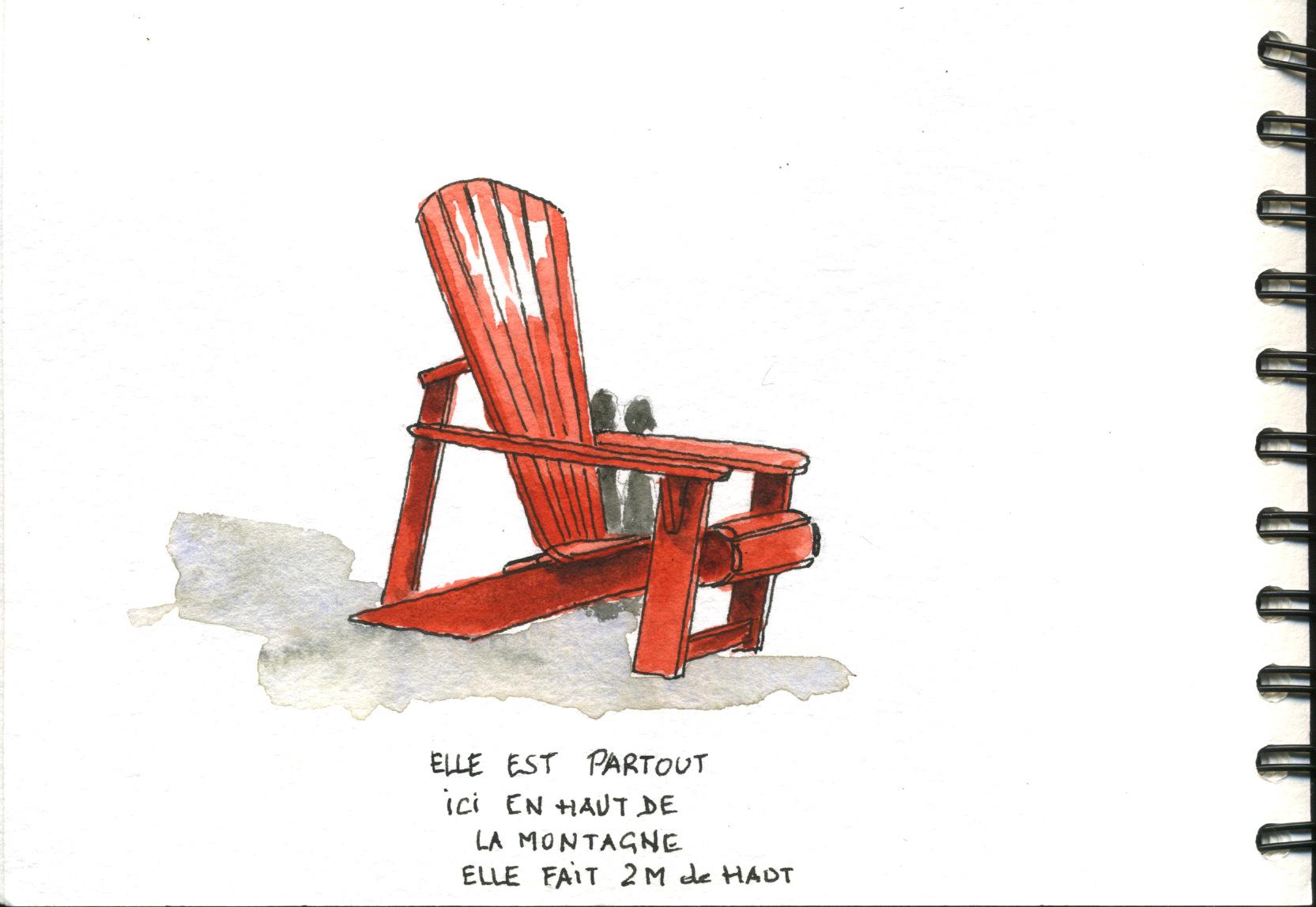 Encore la symbolique chaise canadienne